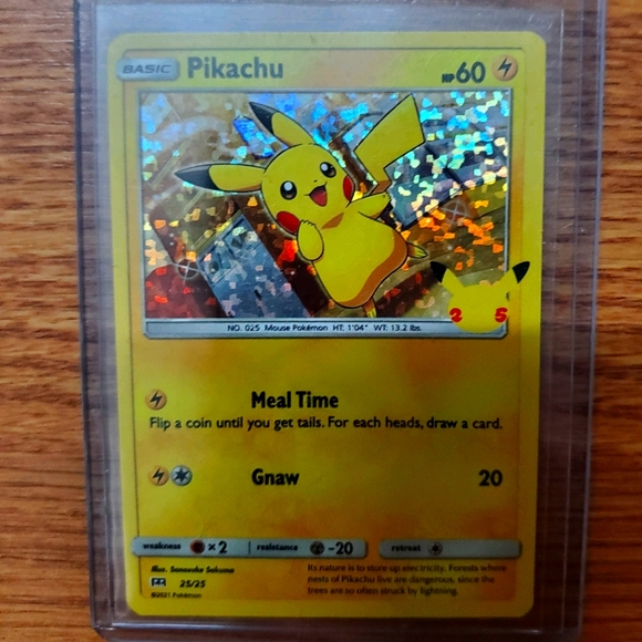 Pokemon Pikachu Hologram 25th Anniversary McDonald